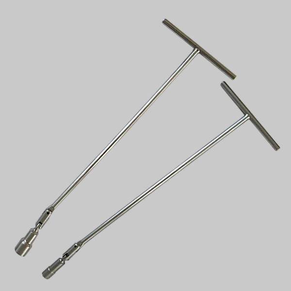 Long T-spark plug wrench