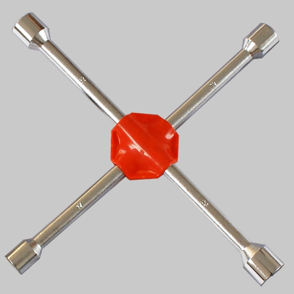Cross rim wrench(plastic pad)